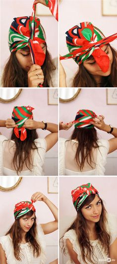 how to tie a headscarf part two
