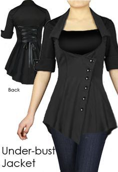 Side Button Under-Bust Jacket by Amber Middaugh