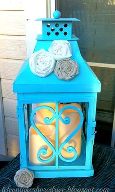 Life on Lakeshore Drive  Lantern Makeover