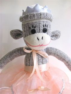 Sock Monkey Pink Ribbon for Breast Cancer by mistersockmonkey1