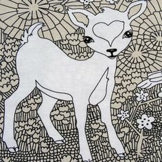 "Majapuu - ""Deers"" in Sand Print Design, Fabrics, Snoopy, Prints, Fictional Characters, Art, Tricot, Tejidos, Art Background"