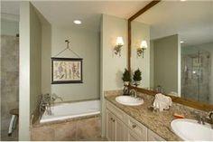 beautiful green color in bathroom