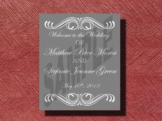 #Wedding Reception #Welcome #Sign or Poster by WeddingsByJamie