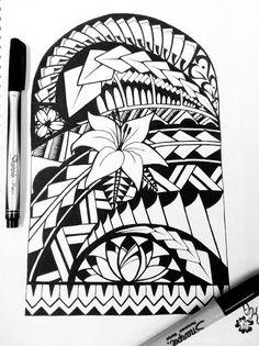 pacific tribal arts designs | samoan tribal tattoo flower tattoo tatt ink tribal polynesian