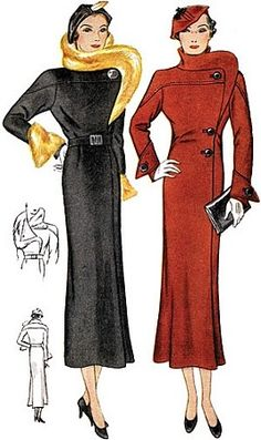 1930 Coat With Stand Up Collar