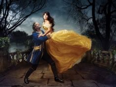 Beauty and the Beast by Annie Leibovitz: Penelope Cruz as Belle and Jeff Bridges as the Beast