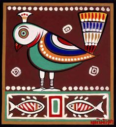 Shri Jamini Roy (1887~1972, small village in Beliatore, Bankura district, West Bengal, India)