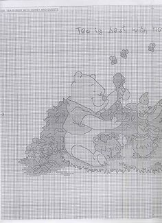 winnie the pooh Disney Cross Stitch Patterns, Winnie The Pooh Friends, Cross Stitch Boards, Pooh Bear, Baby Disney, Cross Stitching, Embroidery, Acre, Stitches