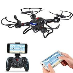 Holy Stone F181W Wifi FPV Drone with 720P Wide-Angle HD Camera Live Video RC Quadcopter with Altitude Hold, Gravity Sensor Function, RTF and Easy to Fly for Beginner, Compatible with VR Headset *** You can get additional details at the image link.