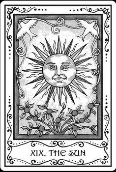 Sun tarot card tatoo