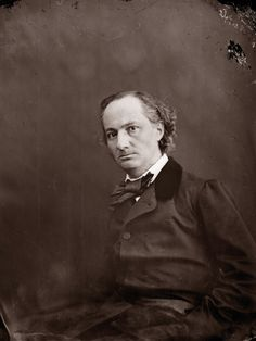 Charles BAUDELAIRE by Nadar Happy birthday, Charles Baudelaire, born 9 April 1821, died 31 August 1867
