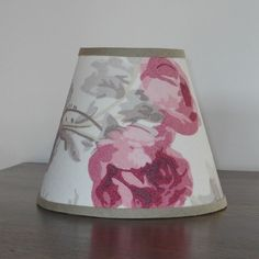 "Laura Ashley Roses Cassis 5.75"" Handmade Candle Clip Lampshade Wall Light"
