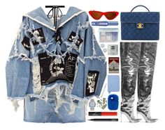 """""""Killer Queen"""" by unorthodoxjukebox ❤ liked on Polyvore featuring Topshop, BLK DNM, Chanel, Balenciaga, NARS Cosmetics, Joomi Lim, Anastasia Beverly Hills, Benefit, Aspinal of London and Rolex"""