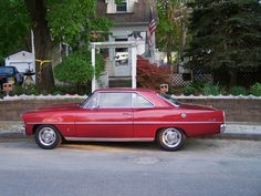 1967 Chevy Nova 6 cylinder 2 door. This is my dream car! But I'd want it in oil slick black :)
