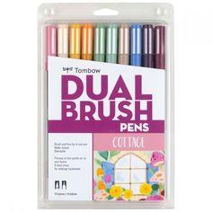 Brush Pen Art, Tombow Dual Brush Pen, Tombow Markers, Brush Markers, Marker Paper, Marker Art, Blender Pen, Fine Pens, Pen Sets