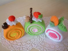Felt Patterns | felt cake pattern-roll cake | Flickr - Photo Sharing!