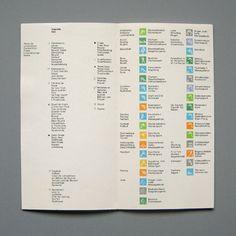 Otl Aicher and the 1972 Munich Olympics; Sports Schedule, Inside Cover.