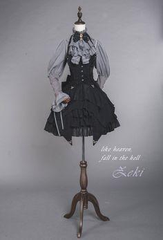 ZJ Story -Heaven and Hell- Lolita High Waist Skirt