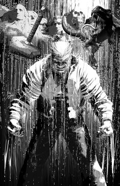 Old Man Logan # 1 cover art by Mike Deodato Jr (Marvel comics)