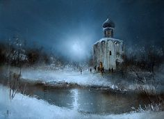 Moonlight sonata in painting by Russian artist Igor Medvedev