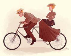 Rosalind and Robert Lutece artwork