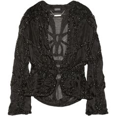 Alexander McQueen Embellished silk-organza jacket ($1,936) ❤ liked on Polyvore