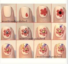 How To Draw A Hibiscus Nail Art Fashion Beauty Tip