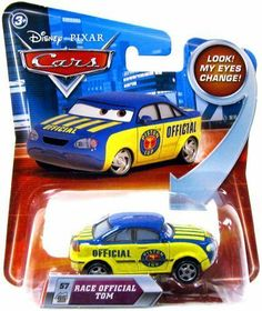 Disney / Pixar CARS Movie 155 Die Cast Car with Lenticular Eyes Series 2 Race Official Tom by Mattel, http://www.amazon.com/dp/B0036UNNOG/ref=cm_sw_r_pi_dp_dCjXqb047SZ8H