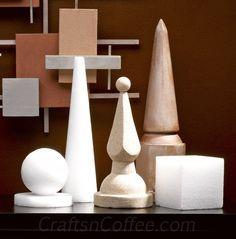 330mm Wood Stand for Styrofoam ShapesStyrofoam Shapes for Crafts