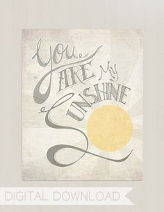 Digital Download You Are My Sunshine Nursery by littleredflag
