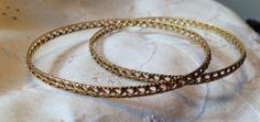 Estate Antique 14k Lace Bangle Bracelets Set of by 12Treasures12, $450.00