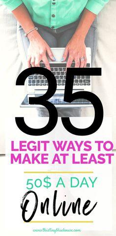 35 legitimate ways to make money online - This Tiny Blue House