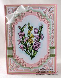Inspired to Stamp: Gladioli