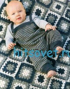 Stricken für Babys Overalls und Plaid
