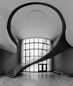 love the mezzanine and stairs composition