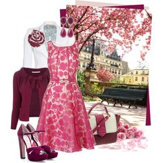 """ruby blossom"" by sagramora on Polyvore"