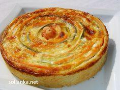 готовый овощной пирог