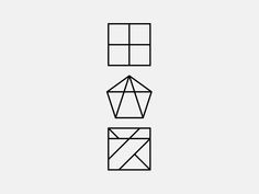 Logotype by Wang Zhi-Hong Studio, via Behance Geometry Pattern, Geometry Art, Pattern Art, Minimal Graphic Design, Graphic Design Typography, Identity Design, Logo Design, Corporate Identity, Design Thinking