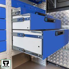 Rafturi și sertare robuste și ușoare pentru echipare furgonete ✅ Blocare dublă ✅ Închidere securizată ✅ Diferite modele Pickup Trucks