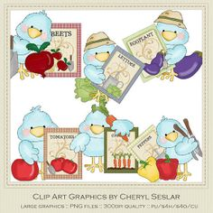 Tiny Tweets Seed Packets Clip Art by Cheryl by marlodeedesigns, $1.35