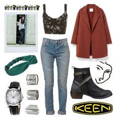 """""""So Fresh and So Keen: Contest Entry"""" by sunrisewarrior ❤ liked on Polyvore featuring Keen Footwear, Yves Saint Laurent, MANGO, Topshop, Burberry, Polaroid and keen"""