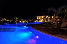 Buccament Bay Resort at night