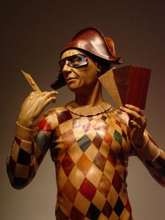 """Fortune Teller"" sculpture by Ian Norbury"