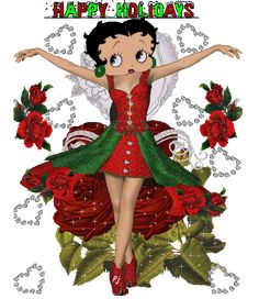 Betty Boop Christmas for Facebook   Lisa's place: Betty boop christmas