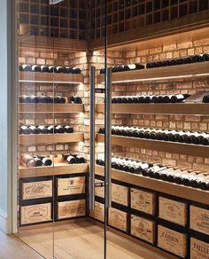 Nadire Atas on Adegas Embaixo da Escada wine cellar, glass walls, glass doors, wine crate . Glass Wine Cellar, Wine Cellar Racks, Home Wine Cellars, Wine Cellar Design, Wine Cellar Modern, Crate Storage, Wine Storage, Wine Cellar Basement, Wine Display
