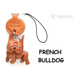 French Bulldog Leather Cellularphone Charm