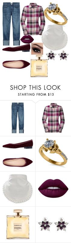 """Lucy Ricardo"" by hannah-graves ❤ liked on Polyvore featuring Current/Elliott, The North Face, Cantarelli, Allurez, Lime Crime and WithChic"