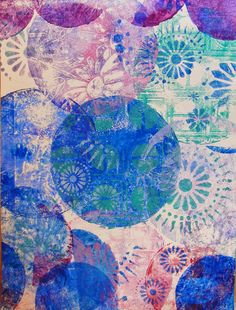 My Art Journal: Round Gelli Plate Tutorial Part 1