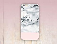 Impression de marbre blanche Phone Case - iPhone 6 cas - iPhone 5 - iPhone 4 - Samsung S4 affaire - 5C - Tough Case iPhone - Matte cas