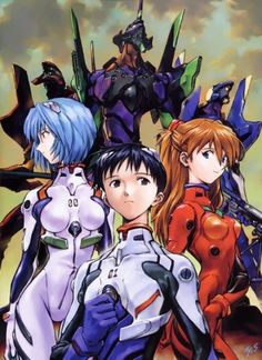 Neon Genesis Evangelion-Hhmmm, now that that cool-looking wannabe Pacific Rim is coming out or already out in theaters, I think I might watch this to catch up on some Kaiju and mighty mecha craze.